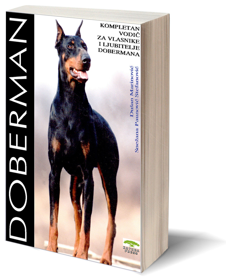 Doberman 3D Book Cover